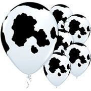 Holstein Cow Balloons 11 inch - 6 per pack/ Latex