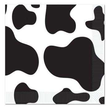 Cow Print Napkins/16 Count/2 Ply - Luncheon Size