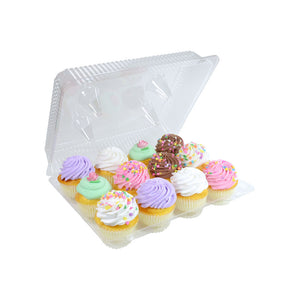 Clear Plastic 12 Compartment Cupcake Container- 3 Count Pack