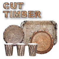 Rustic Cut Timber Dinner Plates- 10 inches/8 Pack