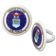 Air Force Cupcake Toppers/Party Favors 12 CT
