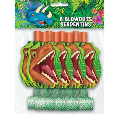 Dinosaur Party Blowouts 8 Pack