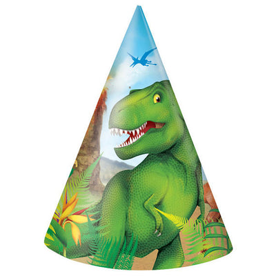 Dinosaur Party Hats 8 Pack