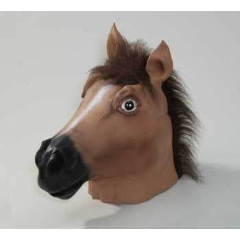 Deluxe Brown Horse Latex Mask