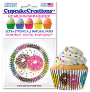 Donut Theme Cupcake Liners 32 per Pack