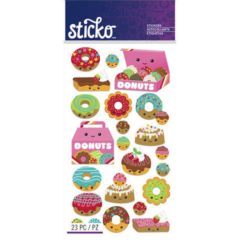 Fun Donut Party Stickers Favor