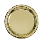 "Metallic Gold Dessert Plates/ 7"" / 8 Count"