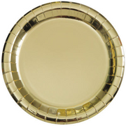 "Metallic Gold Luncheon Plates/ 9"" / 8 Count"