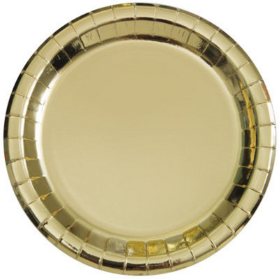 Metallic Gold Luncheon Plates/ 9