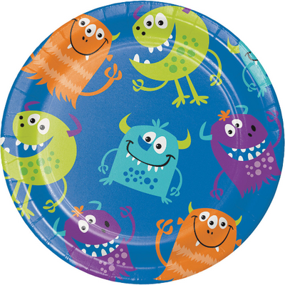 Fun Monsters Dessert Plates/ 7
