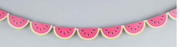 Watermelon Party Banner - 8 Foot with 14 watermelons.