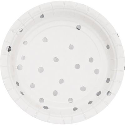 Small Dotted Dessert Plates | 7