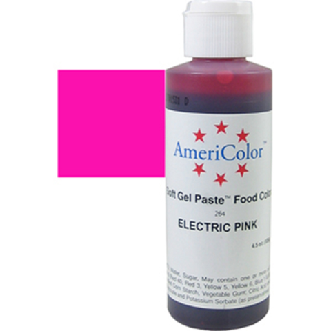 Americolor Electric Pink  Color Gel Paste 4.5 oz