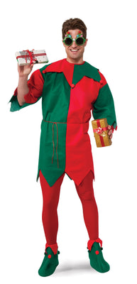 Green and Red Christmas Elf Tunic Costume