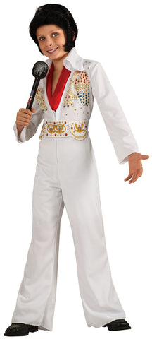 Kid's White Elvis Jumpsuit Costume