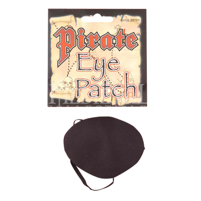 Black Satin Pirate Eye Patch