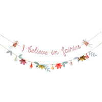 "Fairy Party garland / ""I believe in fairies"" / 2  8 foot garlands"