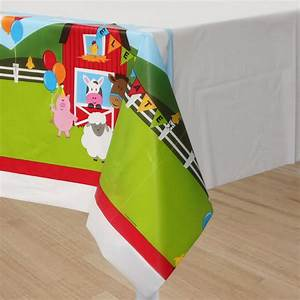 Farm House Fun Table Cover / 54 x 108