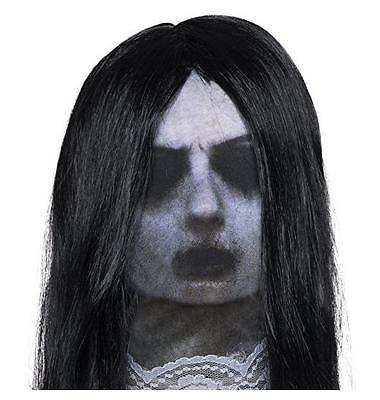 Ghost Mask with Attached Wig