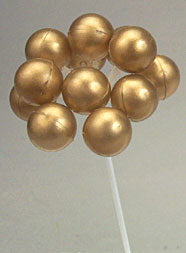 Gold Balloon Cake Cluster Topper