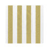 Metallic Striped Napkins - Gold