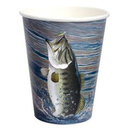 Gone Fishing Paper Cups/Heavy Weight/8 Count/12 oz.