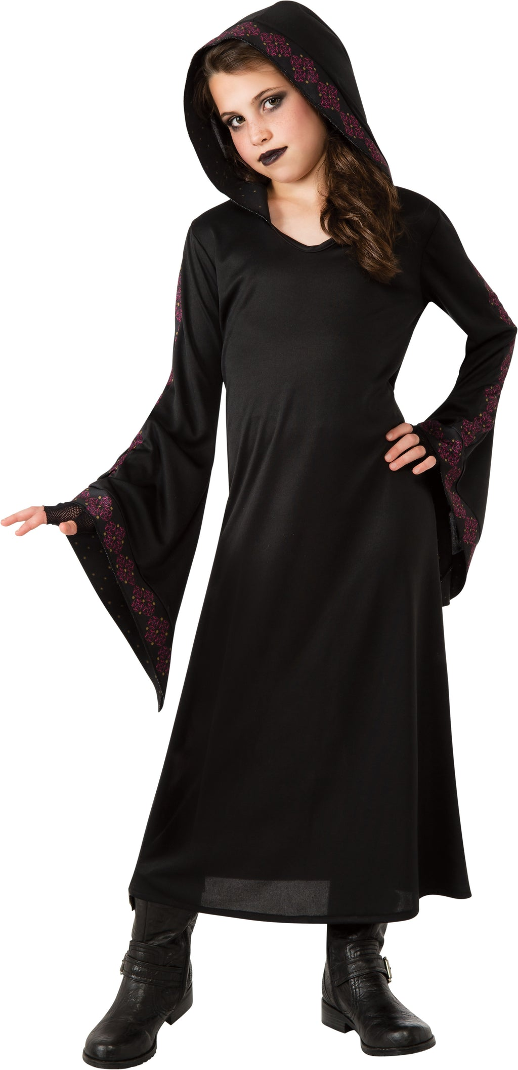 Girls Black Vampire Robe Costume