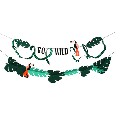 Go Wild Jungle Banner - 20 ft.