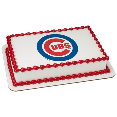 Chicago Cubs Edible Image Cake Topper