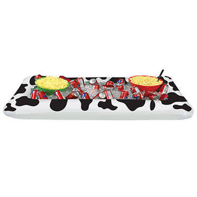 Inflatable Cow Print Buffet Cooler