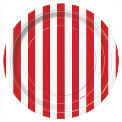 Circus Party Striped Plates
