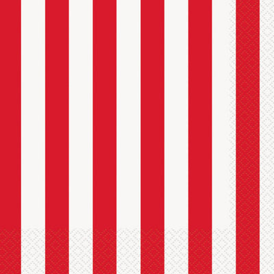Circus Party Striped Napkins