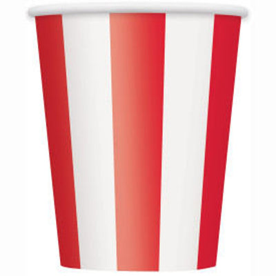 Circus Party Striped Cups