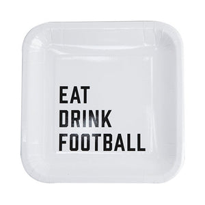 Eat Drink Football Plates