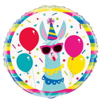 Llama Party Mylar Balloon