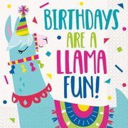 Llama Party Birthday Napkins