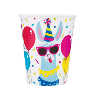 Llama Party Paper Cups 8 CT