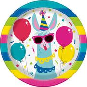 Llama Party Cake Plates 8 CT