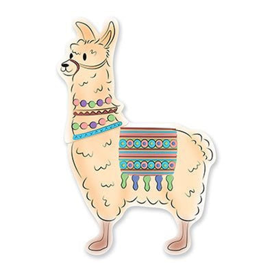 Llama Party Jointed Cutout