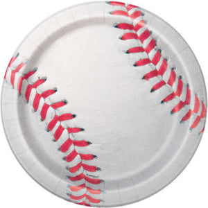 Large Baseball Party Plates