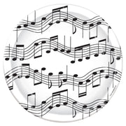 Musical Note Lage Party Plates