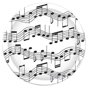 Musical Note Small Party Plates