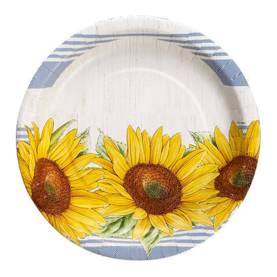 Sunflower Party Large Plates