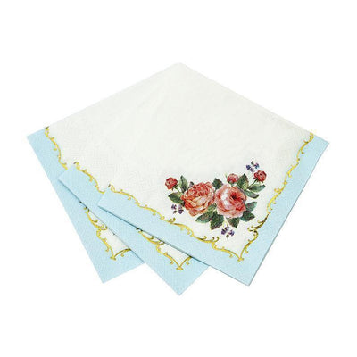 Vintage Rose Beverage Napkins