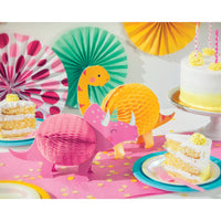 Girl Dinosaur Party Centerpieces