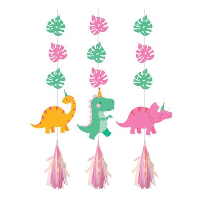 Girl Dinosaur Hanging Decor