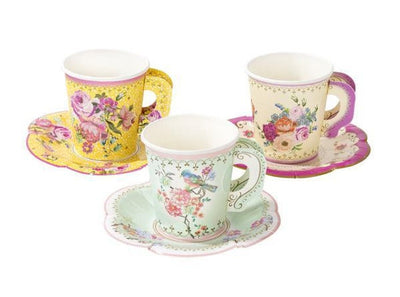 Vintage Tea Party Cup Set