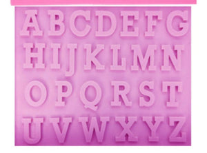 Silicone Alphabet Mold 1 inch size