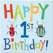 Bug Party Birthday Napkins