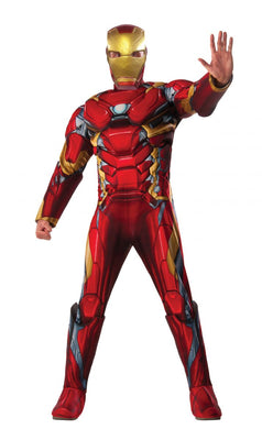 Adult Deluxe Iron Man Muscle Chest Costume